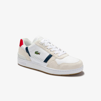 Lacoste Men's T-Clip Tricolour Leather and Suede Trainers