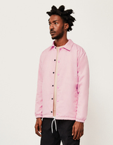 The Idle Man Nylon Coach Jacket Pink