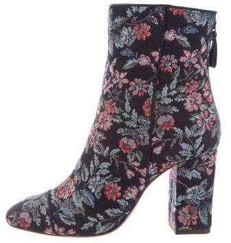 Alexandre Birman Canvas Floral Ankle Boots w/ Tags
