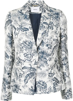 Erdem Floral-Print Single Breasted Blazer