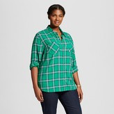 Merona Women's Plus Size Favorite Shirt Splendid Green
