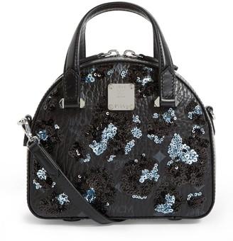 MCM Sequin Leopard Essential Cross Body Bag