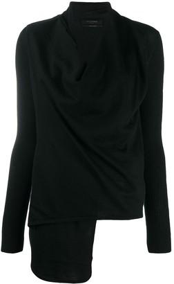 AllSaints Slouchy Asymmetric Knitted Jumper