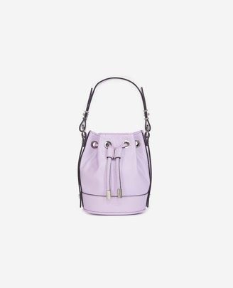 The Kooples Nano Tina bag in smooth lilac leather