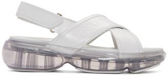 Prada White Cloudbust Criss Cross Sandals