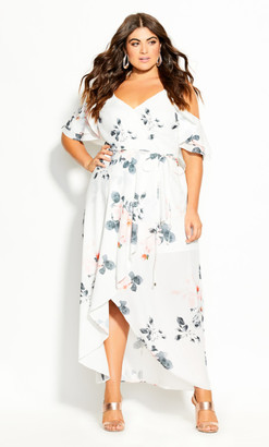 City Chic Lotus Lust Maxi Dress - ivory
