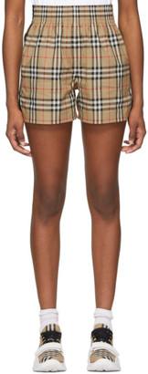 Burberry Beige Cotton Vintage Check Shorts