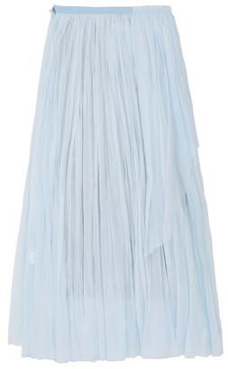 Vika Gazinskaya Crinkle-pleat Waterfall-panel Cotton-batiste Skirt - Womens - Blue