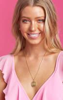 MUMU Barbie Logo Coin Necklace ~ Gold