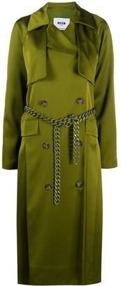 MSGM Chain-Belt Trench Coat