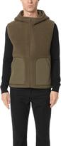 Vince Reversible Sherpa Hooded Vest