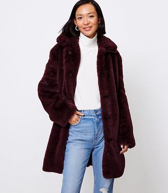 LOFT Petite Faux Fur Coat