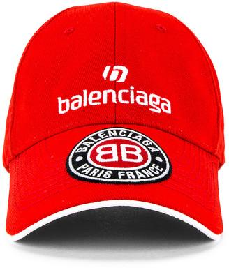 Balenciaga Soccer Cap in Red   FWRD