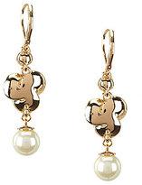 Anne Klein Pearl Blossom Flower Drop Earrings