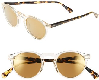 Oliver Peoples 'Gregory Peck' 47mm Retro Sunglasses