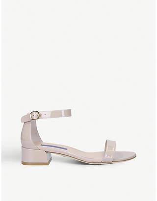 Stuart Weitzman Nudistjune patent leather sandals
