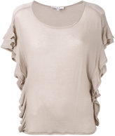 IRO ruffled T-shirt - women - Polyurethane/Tencel - XS