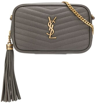 Saint Laurent Quilted Logo Plaque Cross Body Bag