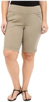 Jag Jeans Plus Size Ainsley Classic Fit Bermuda in Hazelnut Bay Twill