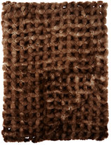 Adrienne Landau Crocheted Mink Throw