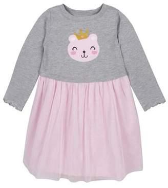 Gerber Long Sleeve Cotton Jersey Dress with Tulle Skirt Overlay (Toddler Girls)