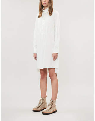 See by Chloe Pintuck-pleated crepe shirt dress