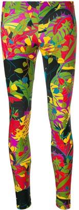La DoubleJ Leaf-Print Mid-Rise Leggings