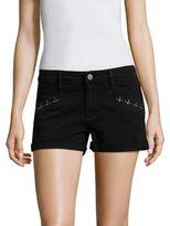 Paige Rosie HW x Anja Grommet Cuffed Denim Shorts