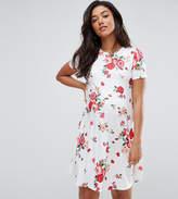 Asos Swing Dress In Floral Print