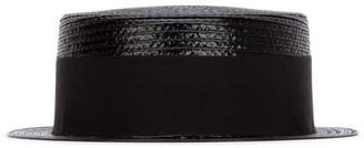 Saint Laurent Grosgrain Band Boater Hat