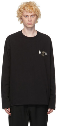 Jil Sander Black Metal Decoration Long Sleeve T-Shirt