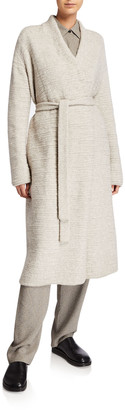 The Row Atra Wool-Blend Belted Cardigan
