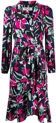 Diane von Furstenberg Botanical-Print Wrap Dress