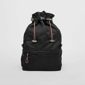 Burberry Logo Detail Nylon Drawcord Backpack