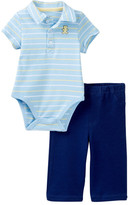 Little Me Bear Polo Pant Set (Baby Boys)