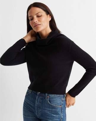 Club Monaco Cashmere Cowlneck Rib Sweater