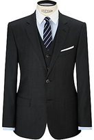 Hackett London Sharkskin Super 110s Wool Suit Jacket, Charcoal