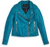Blank NYC BLANKNYC Girls' Faux Leather Moto Jacket - Sizes S-XL