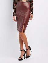 Charlotte Russe Faux Leather Pencil Skirt