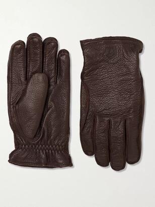 Hestra Frode Wool-Lined Full-Grain Leather Gloves - Men - Brown