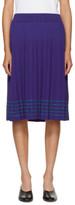 Harikae Blue Pleated Skirt