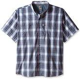 Carhartt Men's Big & Tall Force Mandan Button Down Short Sleeve Shirt