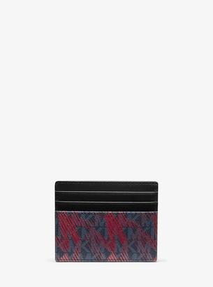 Michael Kors Greyson Tall Logo Card Case
