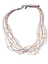 Natasha Accessories Multi-Strand Faux Pearl Necklace