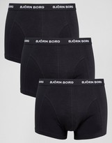 Bjorn Borg 3 Pack Trunks in Black