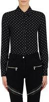 Givenchy Women's Star-Pattern Jacquard Crepe Blouse-BLACK