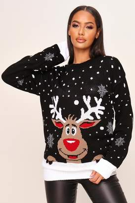 I SAW IT FIRST CHRISTMAS REINDEER KNITTED JUMPER