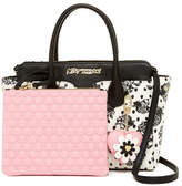 Betsey Johnson Dip Removable Pouch Satchel