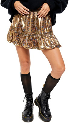 Free People In a Bubble High Waist Miniskirt
