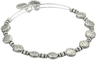 Alex and Ani Coin Charm Bangle (Rafaelian Silver) Bracelet